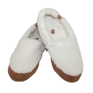 Acorn Women's MOC Popcorn Slippers - buff off white