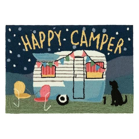 Liora Manne Frontporch Happy Camper Indoor/Outdoor Rug Night