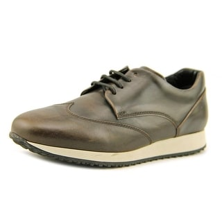 Hogan H221 B-Dress Derby Liscio Youth Wingtip Toe Leather Brown Oxford