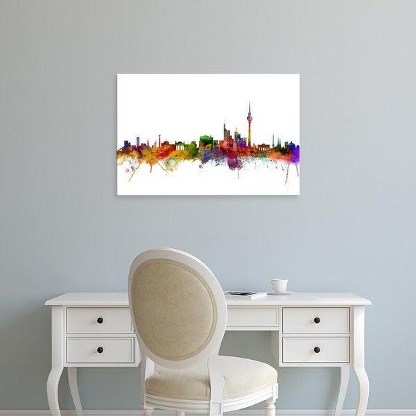 Easy Art Prints Michael Tompsett's 'Berlin Germany Skyline' Premium Canvas Art