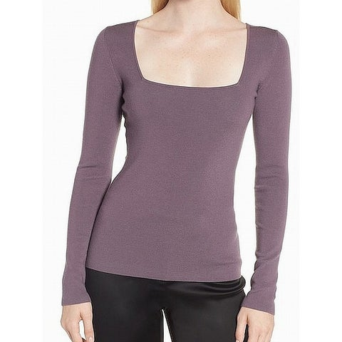Lewit Square Neck Women's Large Knit Top Wool