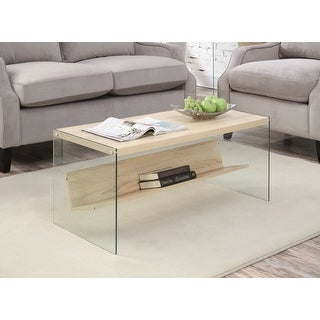 Link to Porch & Den Urqhuart Wood/ Glass Coffee Table Similar Items in Living Room Furniture