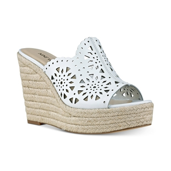 Nine West Derek Espadrille Platform Wedge Sandal - 11 b(m)