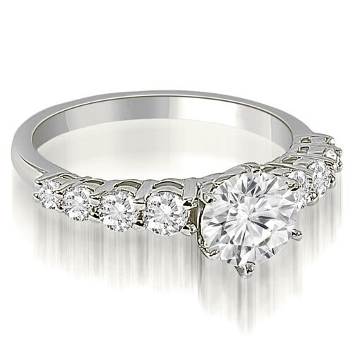 1.50 cttw. 14K White Gold Round Cut Diamond Engagement Ring