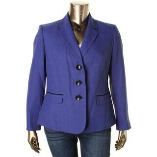 Le Suit Womens Plus Three-Button Suit Jacket Textured Shoulder Pads - 18