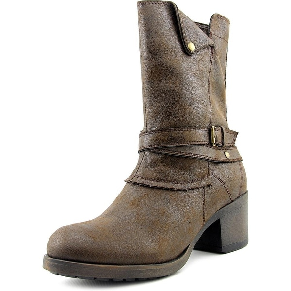Mia Santiago Women Round Toe Synthetic Brown Mid Calf Boot