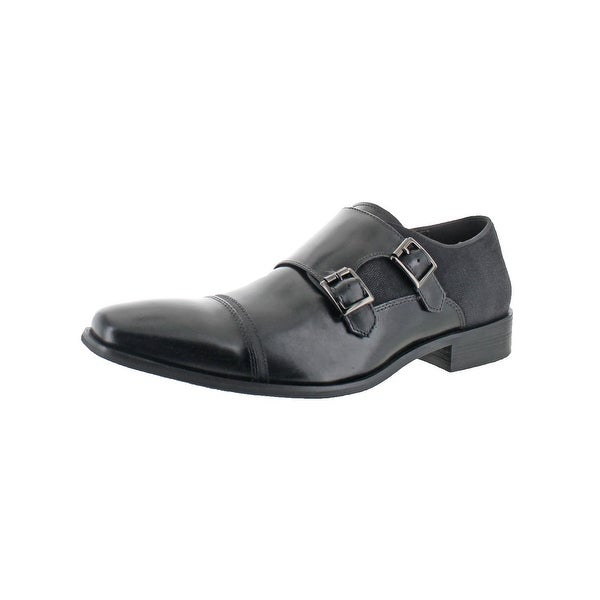 Kenneth Cole Reaction Mens Up In Smoke Monk Shoes Leather Square Toe