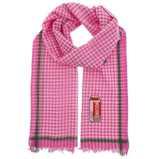 Moschino SCR10981/3 Pink/White Gingham Scarf