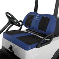 Fairway Golf Cart Neoprene Panel Bench Seat Cover-Black/Navy - 40-035-015501-00