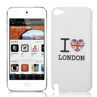 British Flag Words IMD White Hard Back Case Cover for iPod Touch 5 5th Gen