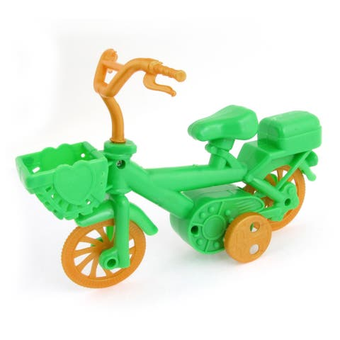 Child Birthday Gift Mini Bicycle Model Toy Orange Green