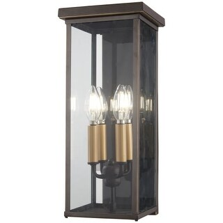 """The Great Outdoors 72582-143C Casway 5 Light 17"""" Tall Outdoor Wall Sconce with S"""