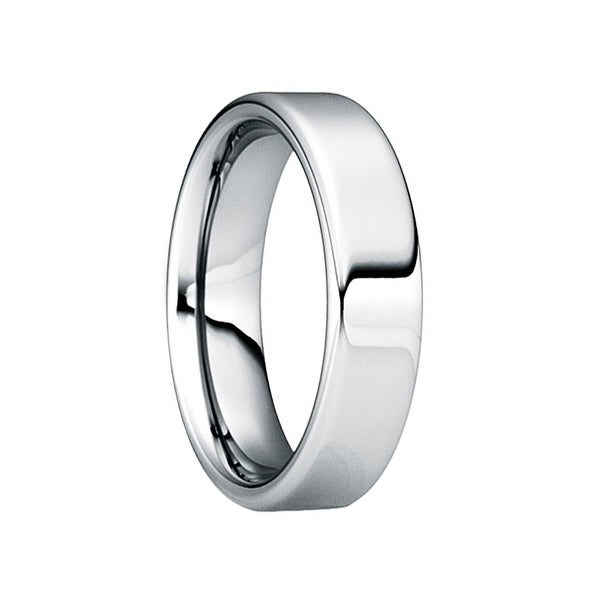 POMPONIUS Comfort Fit Tungsten Wedding Ring with Polished Finish by Crown Ring