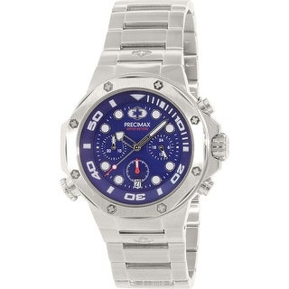 Precimax Men's Guardian Pro PX14001 Silver Stainless-Steel Plated Dress Watch