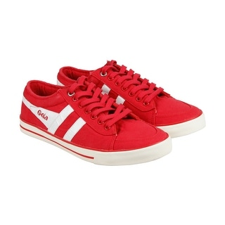 Gola Comet Mens Red Textile Lace Up Sneakers Shoes