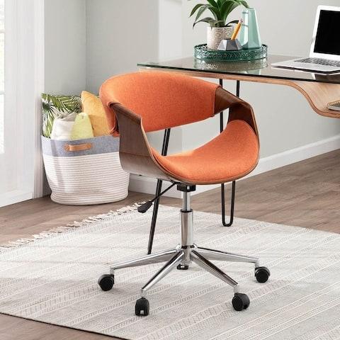 Carson Carrington Kanasen Mid-century Modern Walnut Wood Office Chair - N/A