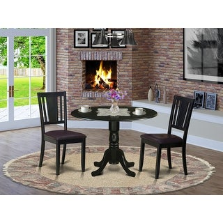 Link to DLDU3-BLK 3 Pc Kitchen Table set for 2-Dinette Table and 2  Chairs Similar Items in Dining Room & Bar Furniture