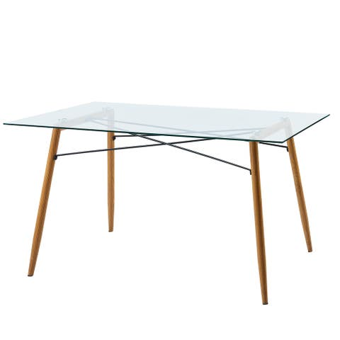 Versanora - Minimalista Glass Dining Table