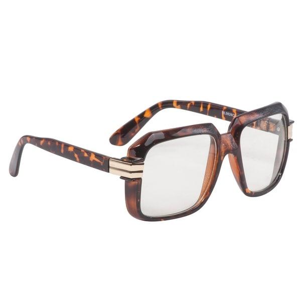 Men CLASSIC RETRO HIP HOP Style SUN GLASSES Round Gold Tortoise Frame Brown Lens