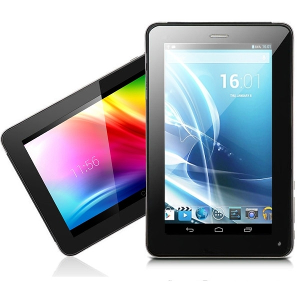 "Indigi® 7.0"" Dual-Core Dual-Sim 2-in-1 SmartPhone + TabletPC w/ Android 4.2 JellyBean Dual-Cameras + WiFi + Bluetooth Sync"