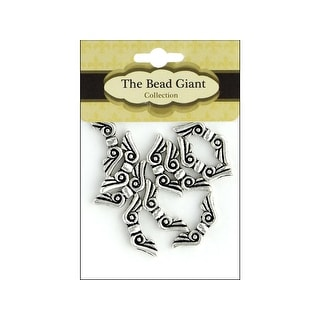 41100 The Bead Giant Bead Angel Wing 19mm 10pc Silver