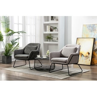 Link to Porthos Home Kylen Accent Chair, Polyester Upholstery, Metal Legs Similar Items in Accent Chairs