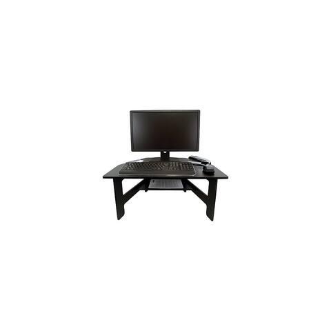 Victor High Rise Stand-Up Desk Converter, Black High Rise Stand-Up Desk Converter, Black