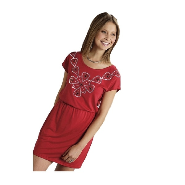 1721d8782a Shop Roper Western Dress Womens S S Nailhead Red - Free Shipping On Orders  Over  45 - Overstock - 15444503