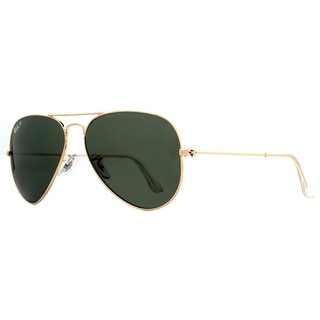 Ray Ban RB3025 001/58 58mm Polarized Green Lens Gold Aviator Sunglasses - 58mm-14mm-135mm