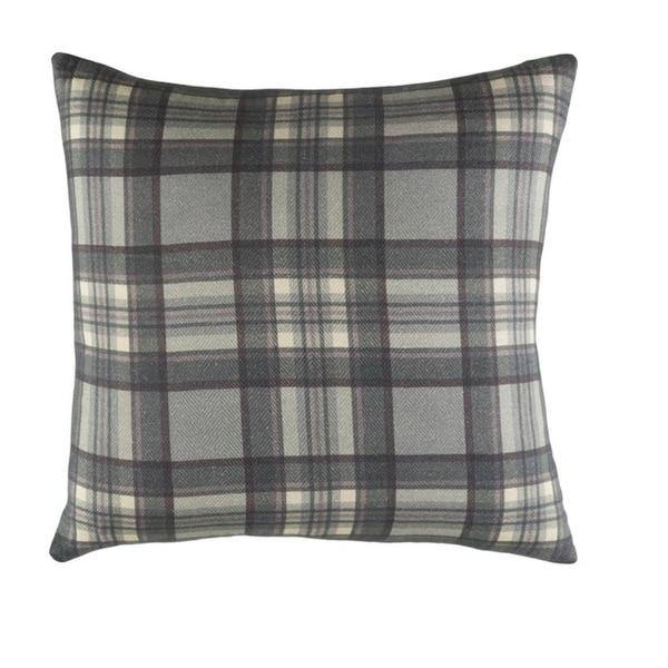 "18"" Gunmetal Gray and Mauve Woven Decorative Throw Pillow-Down Filler"