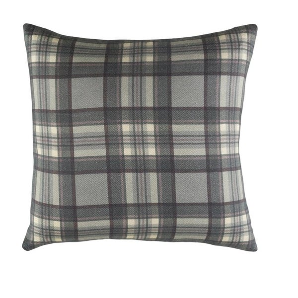 "20"" Gunmetal Gray and Mauve Woven Decorative Throw Pillow-Down Filler"