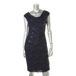 Lauren Ralph Lauren Womens Sequined Lace Cocktail Dress