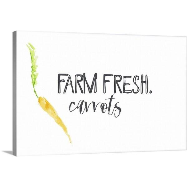 """Farm Fresh Carrots II"" Canvas Wall Art"