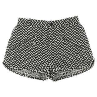 Rachel Rachel Roy Womens Stretch Waist Chevron Casual Shorts