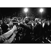 Barack Obama At Campaign Rally Poster Print by Brooks Kraft, 1