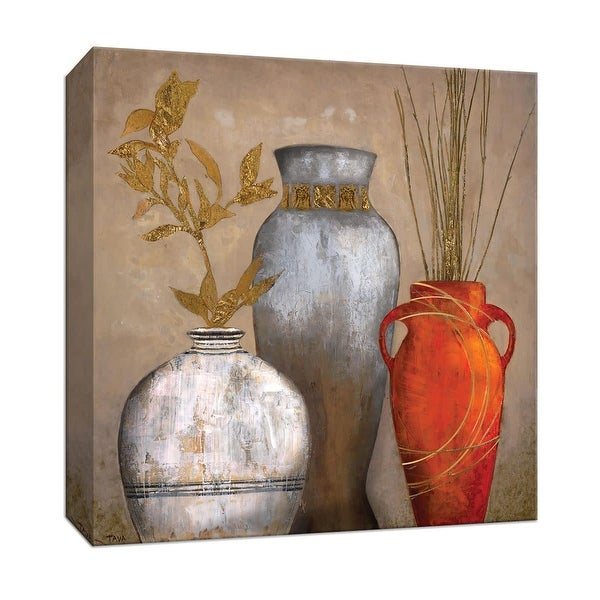 """PTM Images 9-147233 PTM Canvas Collection 12"""" x 12"""" - """"Mia Casa Portofino I"""" Giclee Leaves Art Print on Canvas"""