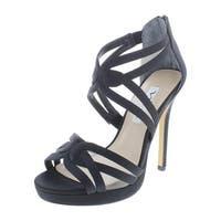 Nina Womens Fayette Evening Sandals Leather Strappy - 6 medium (b,m)