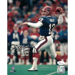 Jim Kelly Autographed Buffalo Bills 8x10 Photo HOF JSA