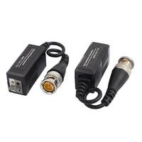2pcs BNC Male UTP Passive HD Video Balun Transceiver for CVI TVI AHD CCTV System