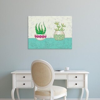 Easy Art Prints Chariklia Zarris's 'Succulent Duo I' Premium Canvas Art
