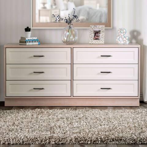 Furniture of America Caldera Mid-Century Modern Cream 6-drawer Dresser