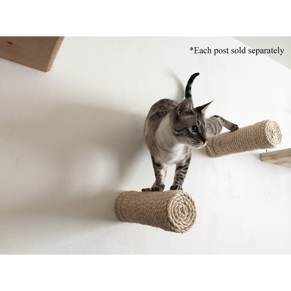 Shop One Floating Sisal Cat Post Handcrafted Cat Shelf