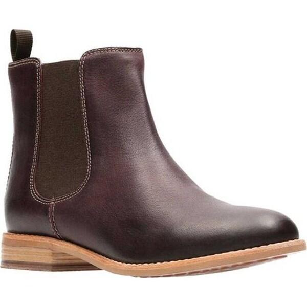 87536b57 Clarks Women's Maypearl Nala Chelsea Boot Burgundy Leather