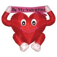 4' Inflatable Be My Valentine Valentine's Day Outdoor Decoration - Red