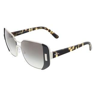 Prada PR 59SS 1AB0A7 Silver/Black Rectangular Sunglasses - 54-16-135