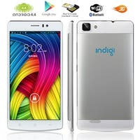 Indigi® Lightning Fast V19 Factory Unlocked 3G GSM+CDMA 5.5inch HD Android 4.4 KitKat Dual-Core Dual-Sim Smartphone (White)