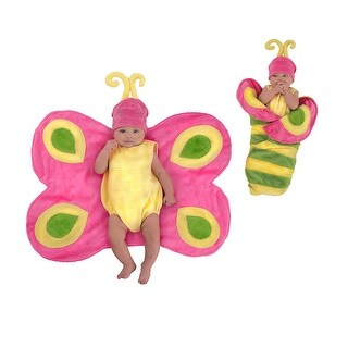 Newborn Swaddle Wings Butterfly Caterpillar Costume size 0-3 Months - 0-3 months
