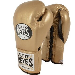 Cleto Reyes Official Lace Up Competition Boxing Gloves - Solid Gold