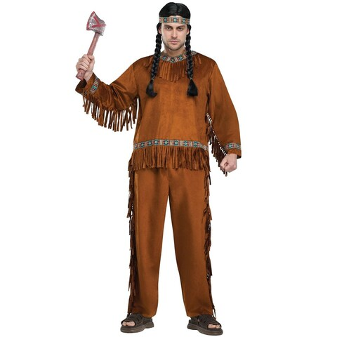 Fun World Native American Adult Costume - Brown - One size
