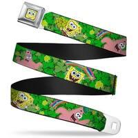 Sponge Bob Face Close Up Sponge Bob & Patrick Starfish St. Patrick's Day Seatbelt Belt